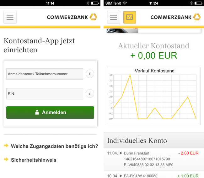 Commerzbanking Screen
