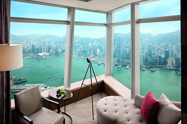 Ritz Carlton - Hafenblick aus einem Zimmer