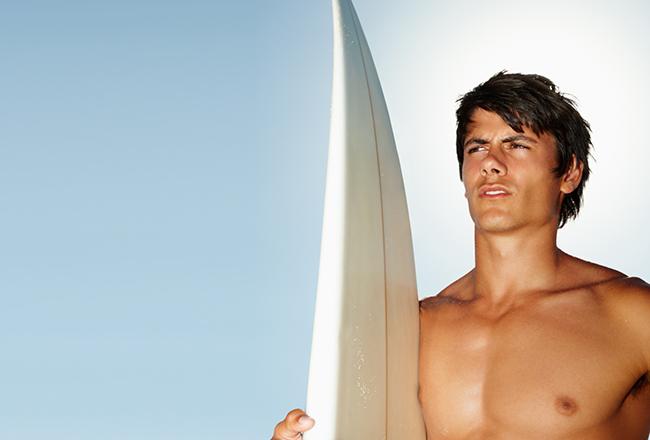 Surfer Frisur