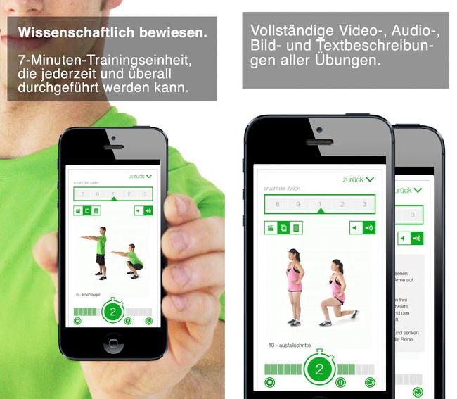 7 min Workout - iPhone App Screen