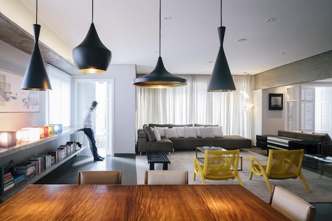 Appartment Wohnzimmer / Designerleuchten