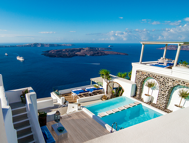 Hotel Iconic Santorini - Pool Area