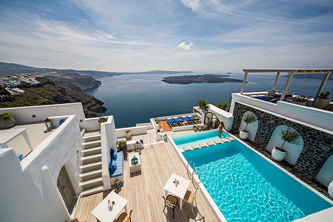 Hotel Iconic Santorini - Pool Area Ausblick