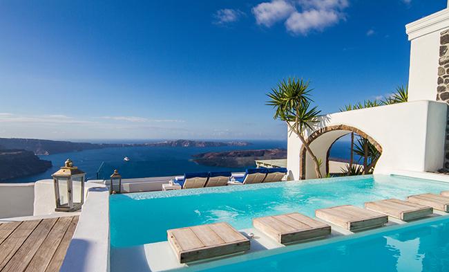 Hotel Iconic Santorini - Pool Ausblick
