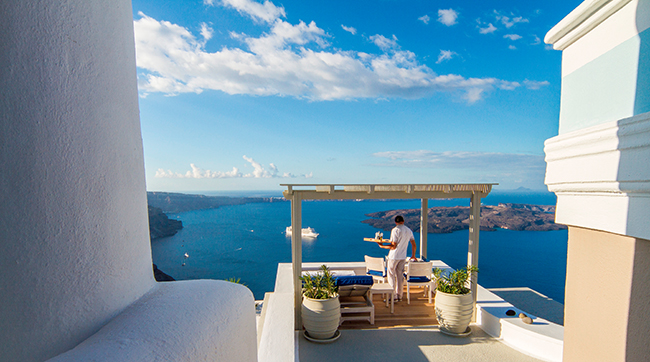 Iconic Hotel Santorini - Room Service Breakfast