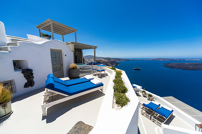 Iconic Hotel Santorini - Caldera Suite Terrasse