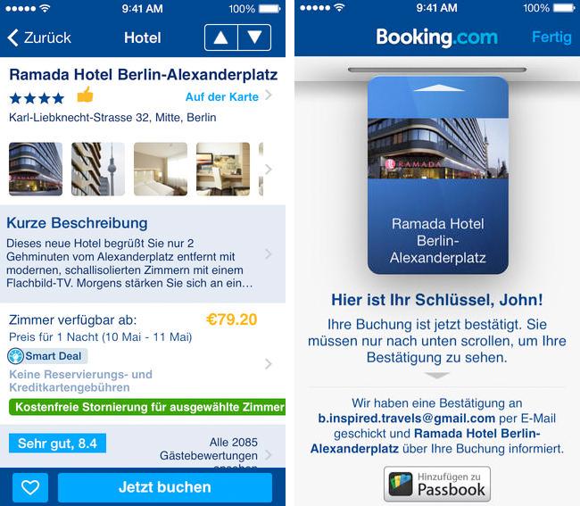 Booking.com - iPhone App Screen 2
