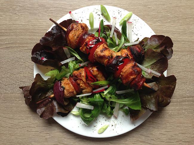 Hähnchenspieße Chorizo Style
