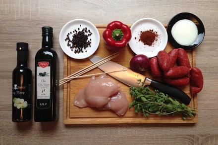 Rezept - Hähnchenspieße Chorizo Style