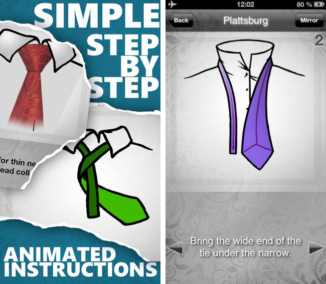 How to tie a Tie - iPhone App Screen 2