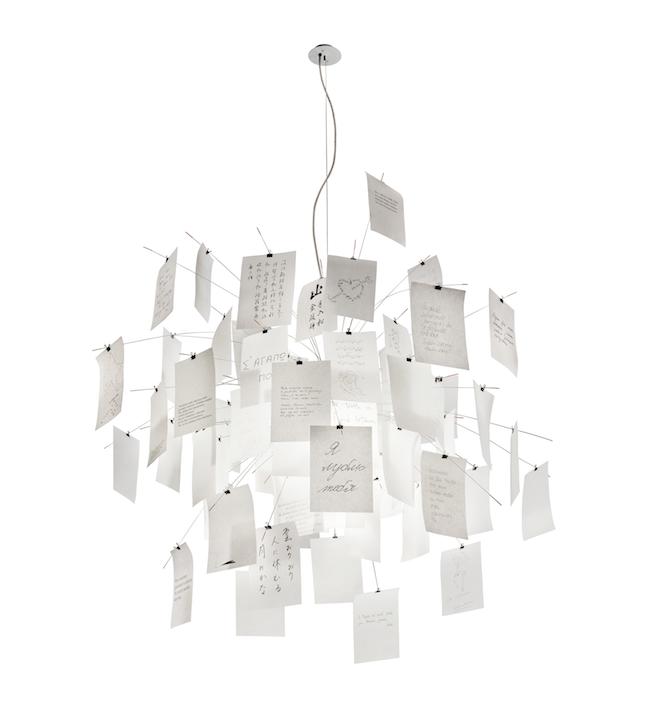 ingo maurer zettellampen leuchtender blickfang f r ein. Black Bedroom Furniture Sets. Home Design Ideas
