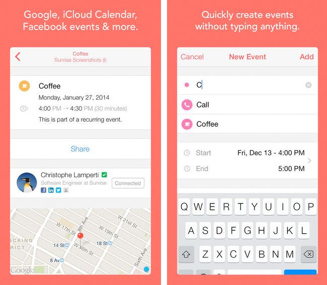 Sunrise Kalender iPhone App 2