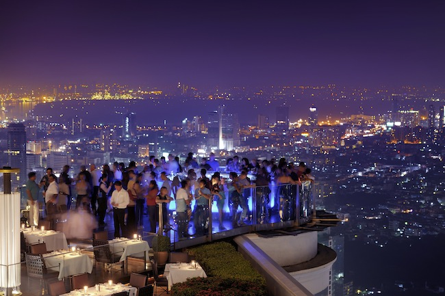 Tower Club at Lebua - Sirocco Restaurant  & Sky Bar View