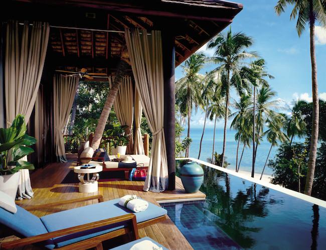 Four Seasons Koh Samui - Terrasse und Infinity Pool