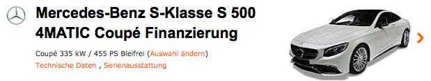 Mercedes Benz S-Klasse Finanzierung