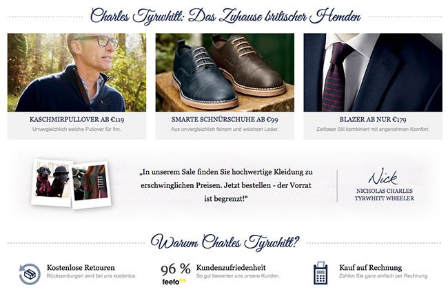 Charles Tyrwhitt Online Shop