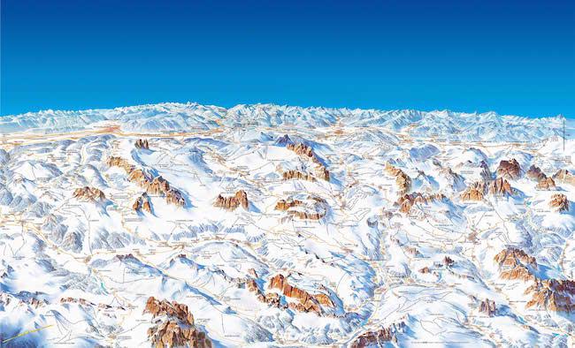 Dolomiti-Superski-Pistenplan