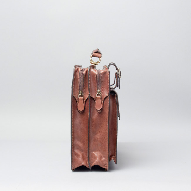 Alanzo Aktentasche aus Leder - Seitlich